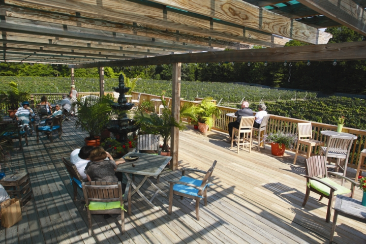Summer days on our beautiful Vineyard Deck.