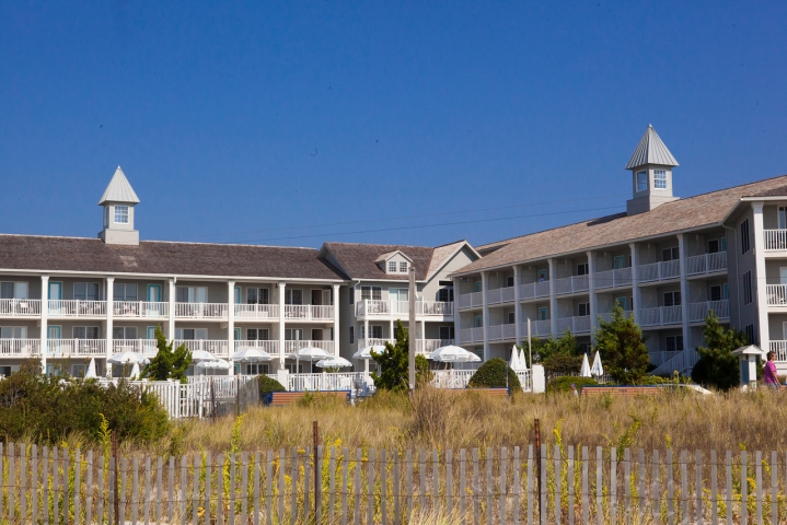 The Sandpiper Beach Club is located right across from the Atlantic Ocean in Cape May, NJ.