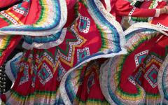 colorful skirts at a Mexican Festival