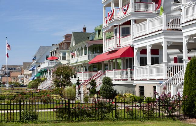 Victorian mansions in Cape May New Jersey