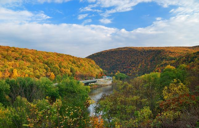 Delaware Water Gap in the Fall