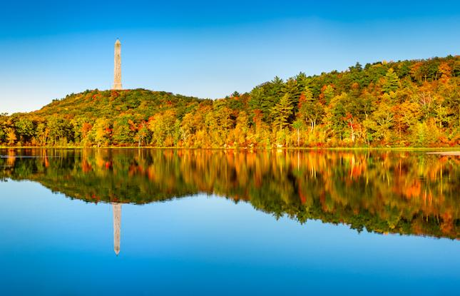 Fall at High Point State Park in Sussex, New Jersey