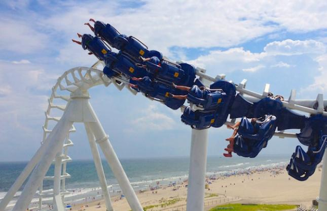 Roller coaster in New Jersey