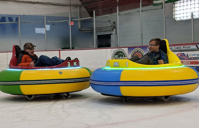 Ice Bumper Cars at Ocean Ice Palace, Brick