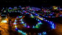 Christmas Light Show and Christmas Village