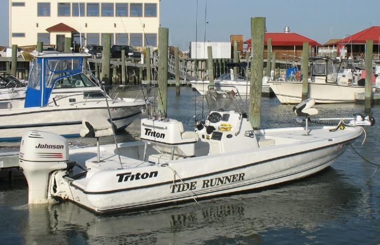Fully equipped Triton 22, perfect for your fly or light tackle fishing experience.