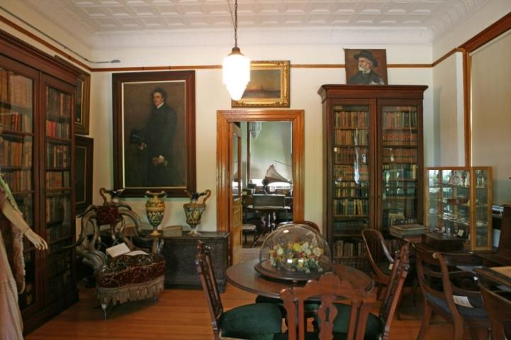 One room is filled with artifacts from the home of Vineland's founder, Charles K. Landis