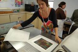 Printing in the studio