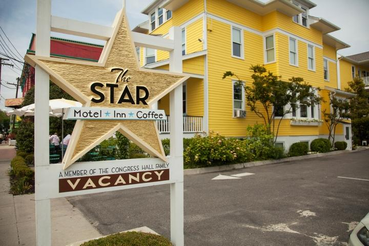 The Star Inn is located 1 block from the beach in Cape May, NJ and includes pool and other amenties provided as part of Cape Resorts.