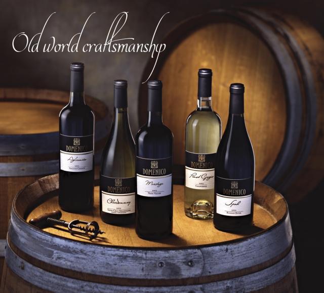 Domenico has 25 California wines to choose from. Cal-Italia a specialty!