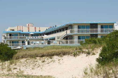 The Attache Motel on the beach in Wildwood Crest