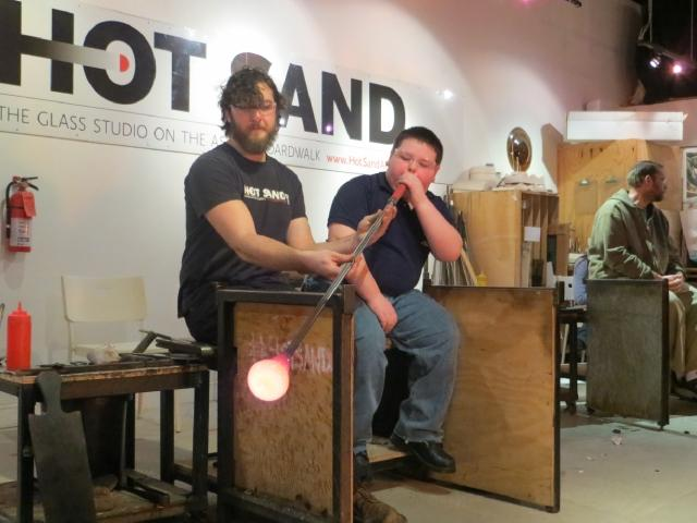 Blowing Glass!