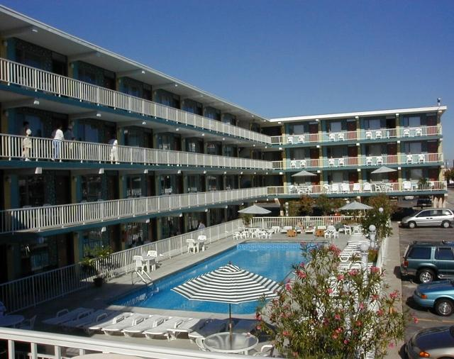 The hotel is located 1/2 block from beach, boardwalk, restaurants and area attractions.