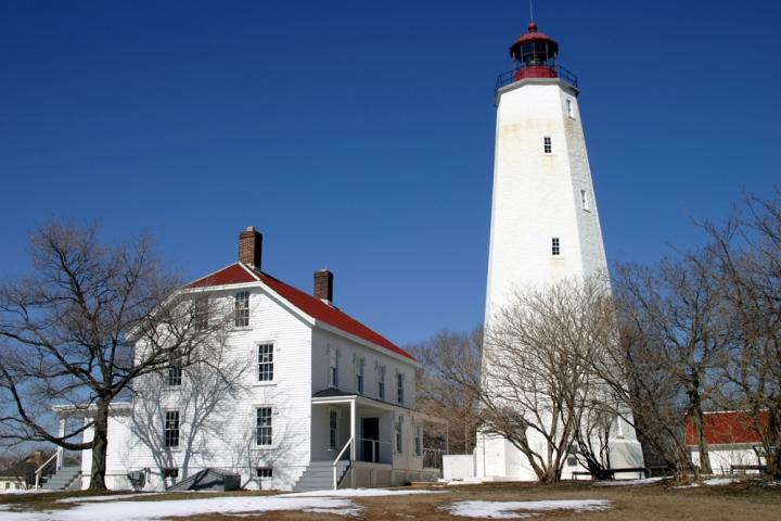 Sandy Hook Lighthouse in the Winter
