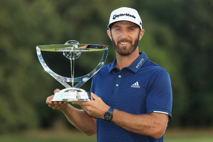 Dustin Johnson captured his second THE NORTHERN TRUST title in a victory over Jordan Spieth in 2017.
