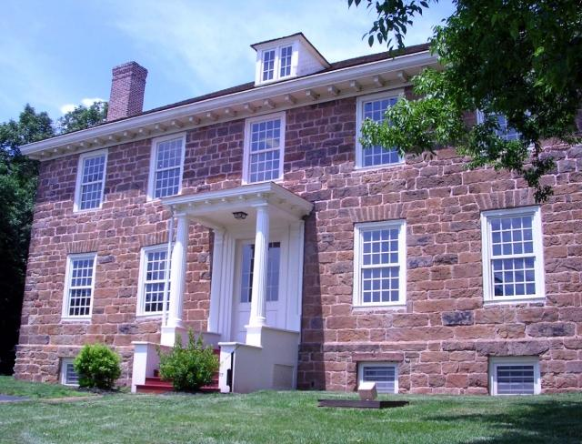Front view of the Cornelius Low House/Middlesex County Museum