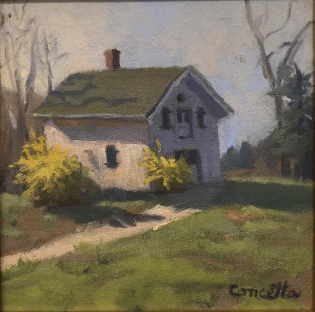 Untitled, oil on linen, by Concetta E. Volpe, Member Miniatures Juried Art Exhibition at Monmouth Museum
