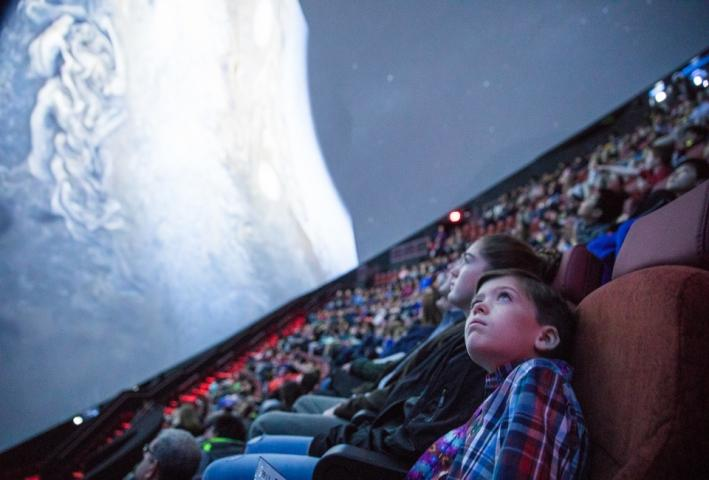 Take a cosmic voyage  in the largest planetarium in the Western Hemisphere.