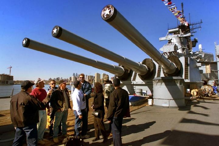 Experience a tour of our nation's largest and most decorated battleship -- the Battleship New Jersey.  Check out the 16-inch gun, the Combat Engagement Area, see how the crew lived aboard this floating city and more!