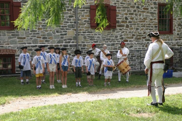 Children standing at attention - Old barracks Trenton