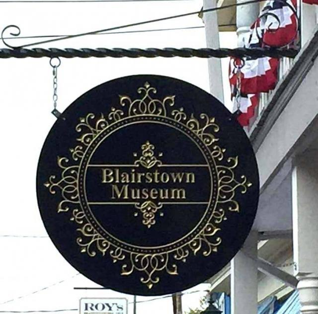 Blairstown Museum Street Sign