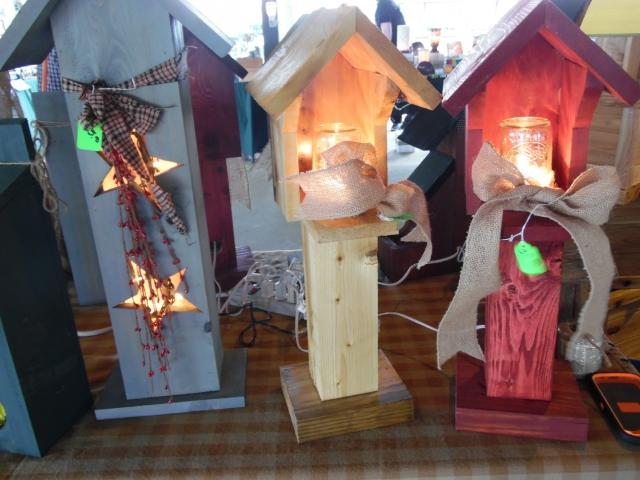 Everything from Birdhouses, Garden Flags, hand crafted furniture to Spring Wreaths at the show.