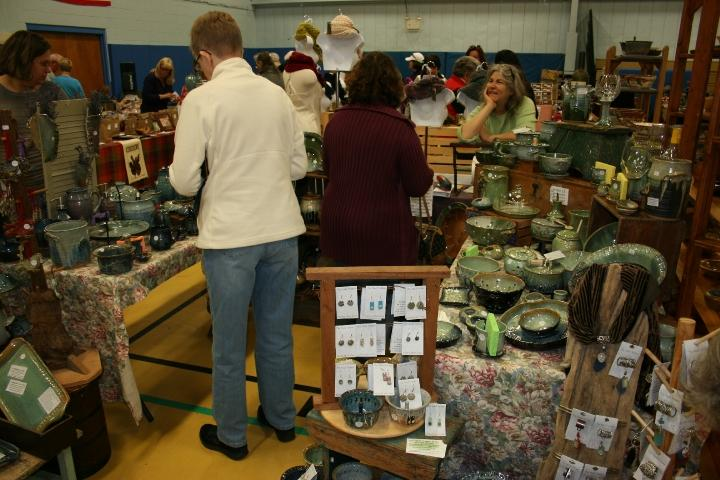 Customers shop for one of a kind items