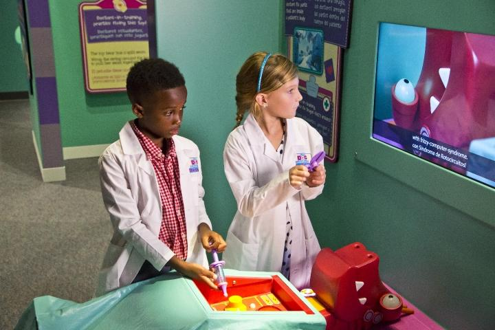 Help toys get better just like Doc McStuffins in her new exhibit.