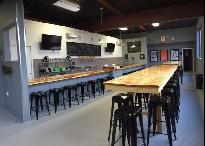Stop in our tasting room for a tour, pour or growler fill or some cans to go!
