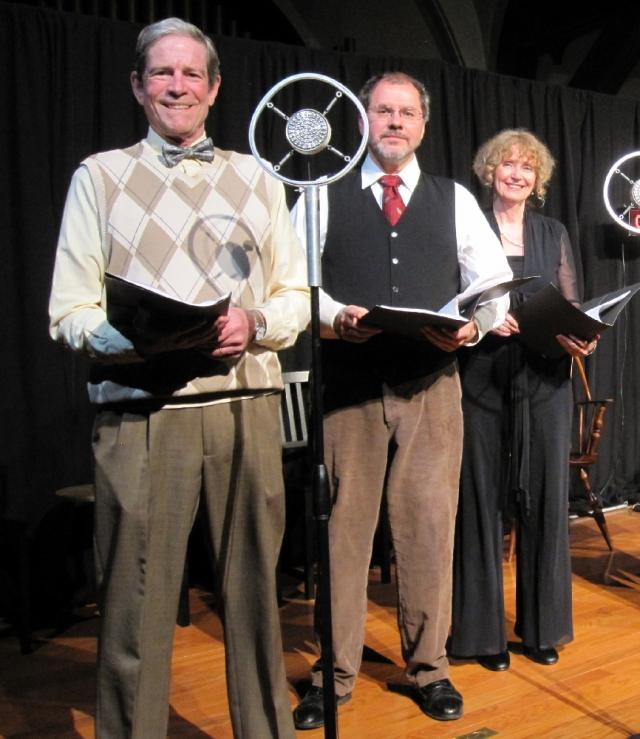 Three of the six cast members: Lee O'Connor, Craig Wichman, and Susan Tischler