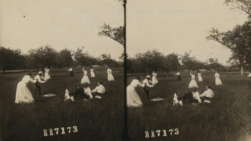 Image credit: Playing baseball at Madison, New Jersey, c. 1910. Underwood & Underwood (copyright September 30, 1911). Stereograph. Retrieved from the Library of Congress.