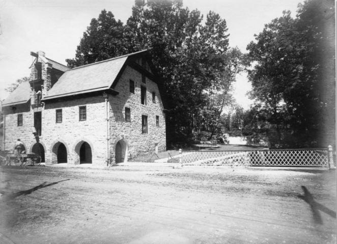 The 1825 grist mill and 1903 Blair Falls are scenic landmarks along Main Street.