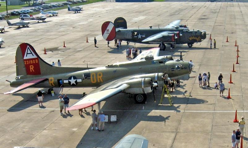 World War II B-17 Flying Fortress and B-24 Liberator on Display