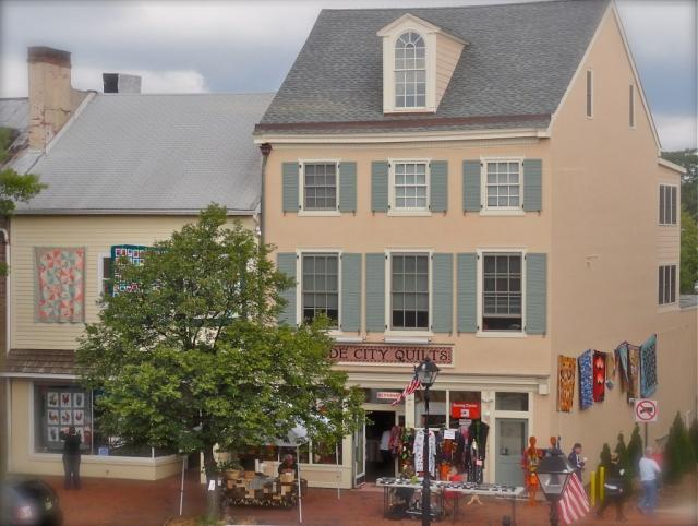 A Quilter's Paradise!! Visit Beautiful Historic Burlington, NJ today! Just steps from the River Line Light Rail Station