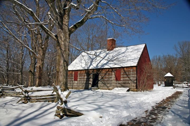 The circa 1750 Wick House in the Jockey Hollow Unit of Morristown National Historical Park