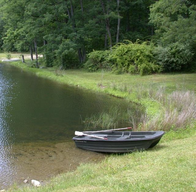 Lake swimming and boat rentals at Camp Taylor Campground