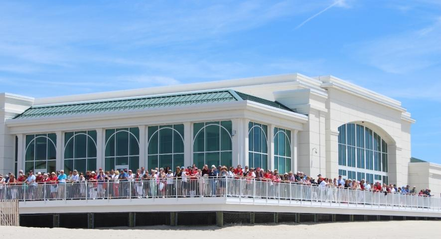 Cape May Convention Hall on the beach